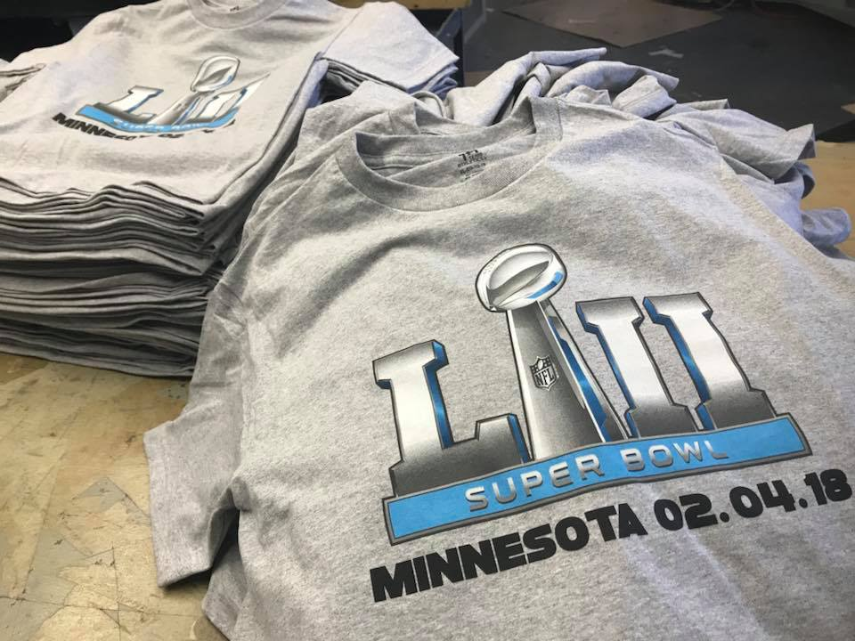 Super Bowl LII T-Shirts from Taho Sportswear